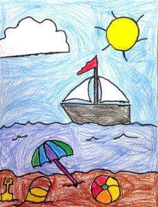 Z otrokovo risbo do njegovih čustev